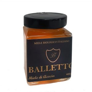 Miele Biologico 100% Italiano Balletto – ACACIA 400g