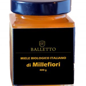 Miele Biologico 100% Italiano Balletto – MILLEFIORI 400 g