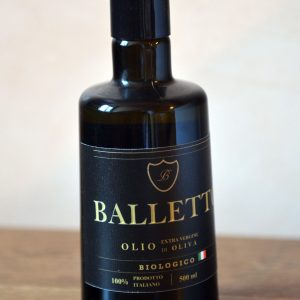 Olio Extra Vergine di Oliva Balletto 100% italiano 100% biologico 500 ml